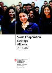 Cover page of the Swiss Cooperation Strategy with Albania 2018-2021