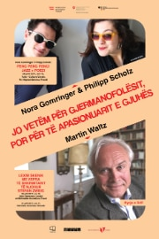 Poster of German literature evening - poetry and jazz - with Nora Gomringer and Philipp Scholz