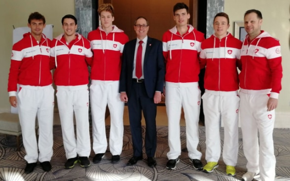 Davis Cup Tennis Match in Astana