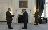 Lieutenant General The Right Honourable Sir Jerry Mateparae, receives the credentials of the Swiss Ambassador ©FDFA