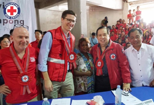 Switzerland has regularly provided humanitarian assistance to typhoon victims © Philippine Red Cross