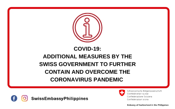 Additional measures by the Swiss Government to further contain and overcome the coronavirus pandemic