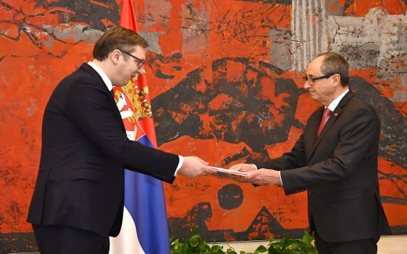 Accreditation of the Ambassador of Switzerland in the Republic of Serbia