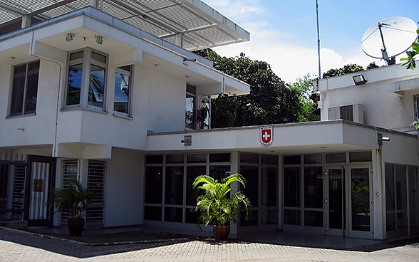 View of the Swiss Embassy building in Dar es Salaam