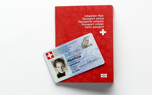 A Swiss passport and identity card