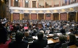 The 250 MPs following the debate in the National Assembly of Serbia.