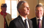 The President of the Swiss Confederation Didier Burkhalter and the Macedonian President Gjorge Ivanov