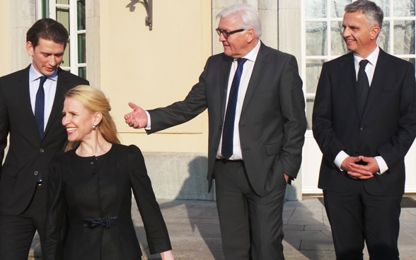 Didier Burkhalter with the foreign ministers of Austria, Liechtenstein and Germany. © FDFA