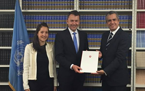 Handover of the instrument of ratification.