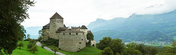 Image of Vaduz Castle in the Principality of Liechtenstein