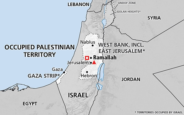 Map of the occupied Palestinian territory