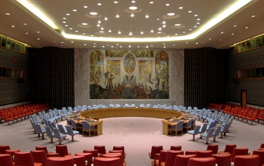 UN Security Council Chamber in New York