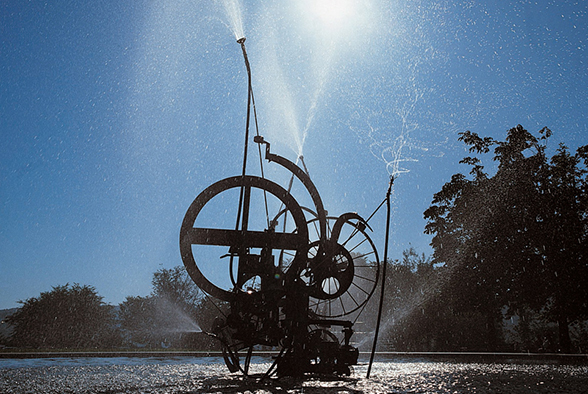 The Jo Siffert fountain by Jean Tinguely