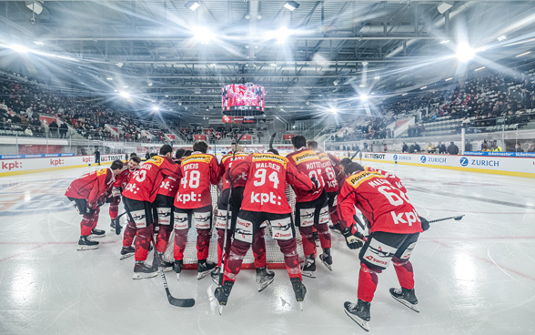 Swiss national ice hockey team during a match