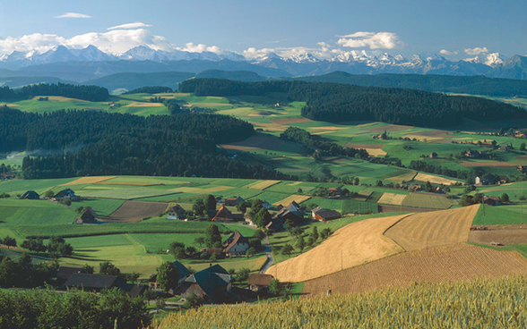 View over the Emmental, canton of Bern