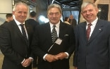 The Rt. Hon. Winston Peters, leader of New Zealand First, with Ambassador David Vogelsanger and Consul Peter Deutschle ©FDFA