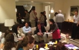 Guests enjoying October's Swiss Apéro at the Swiss Residence