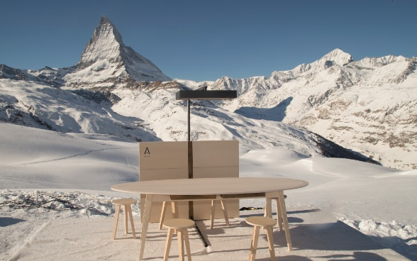Swiss Touch is launched at the base of the Matterhorn