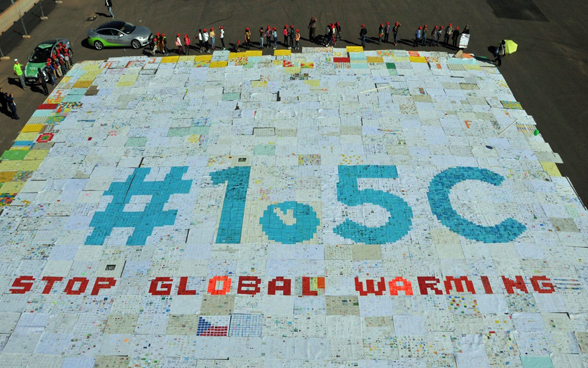 A mosaic of around 54,000 postcards from children and young people from all over the world was created in Marrakesh in autumn 2016 to give young people a voice in the fight against climate change.