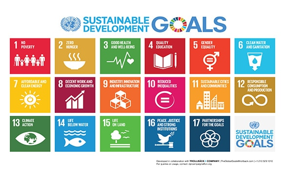 Logos of the 17 Sustainable Development Goals