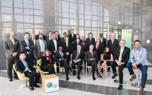 Group picture of the GCF Board at its headquarters in Songdo, South Korea