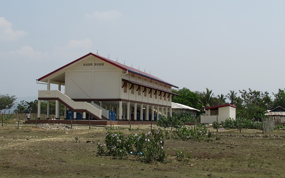 The primary school in Yat Khone Taing after project completion.